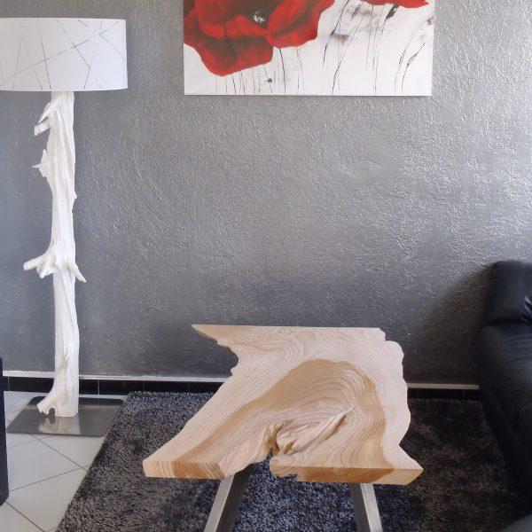 TABLE BASSE tronc d'arbre live edge bords naturels
