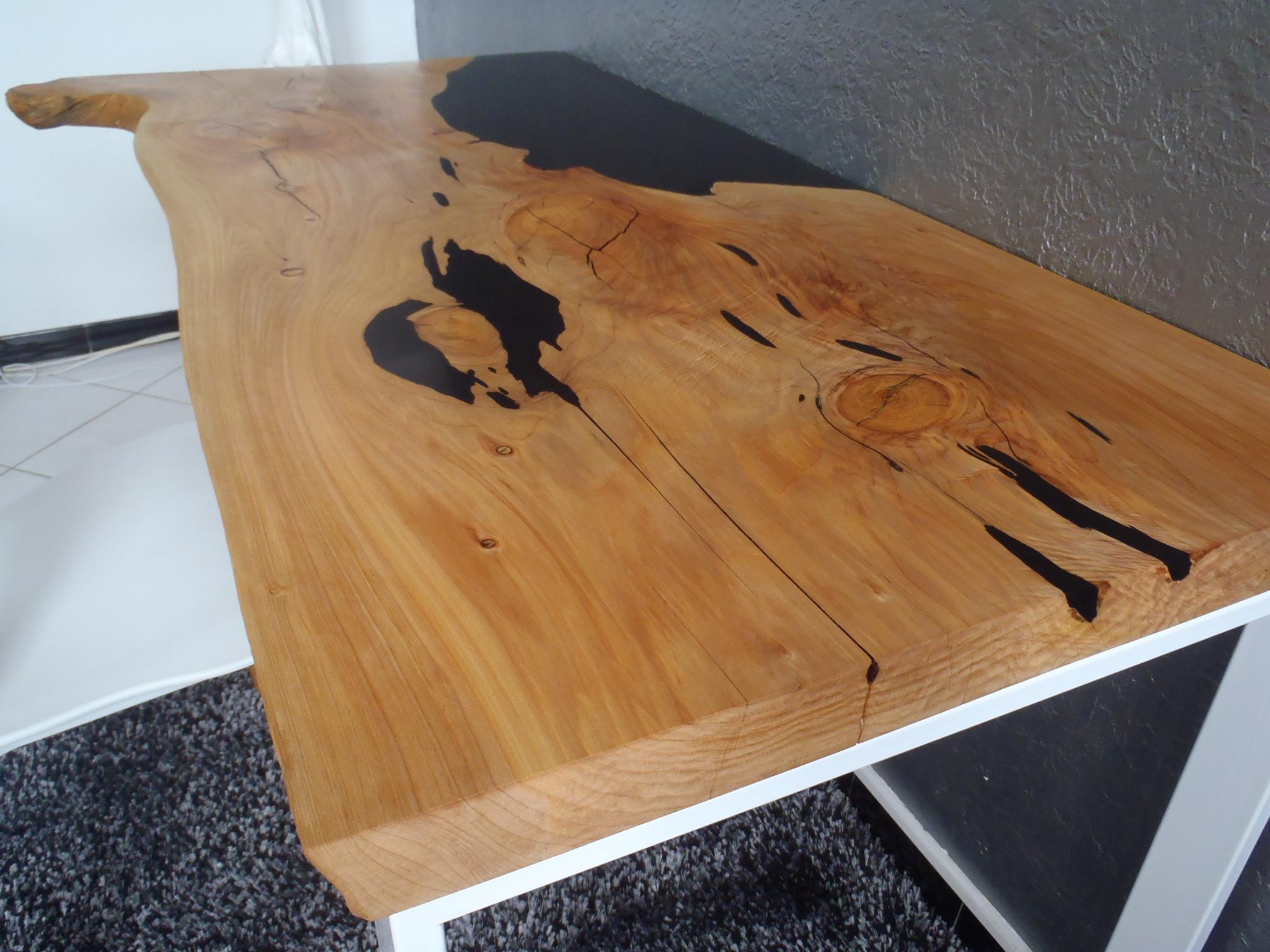 Bureau fusion bois résine boutique penone design
