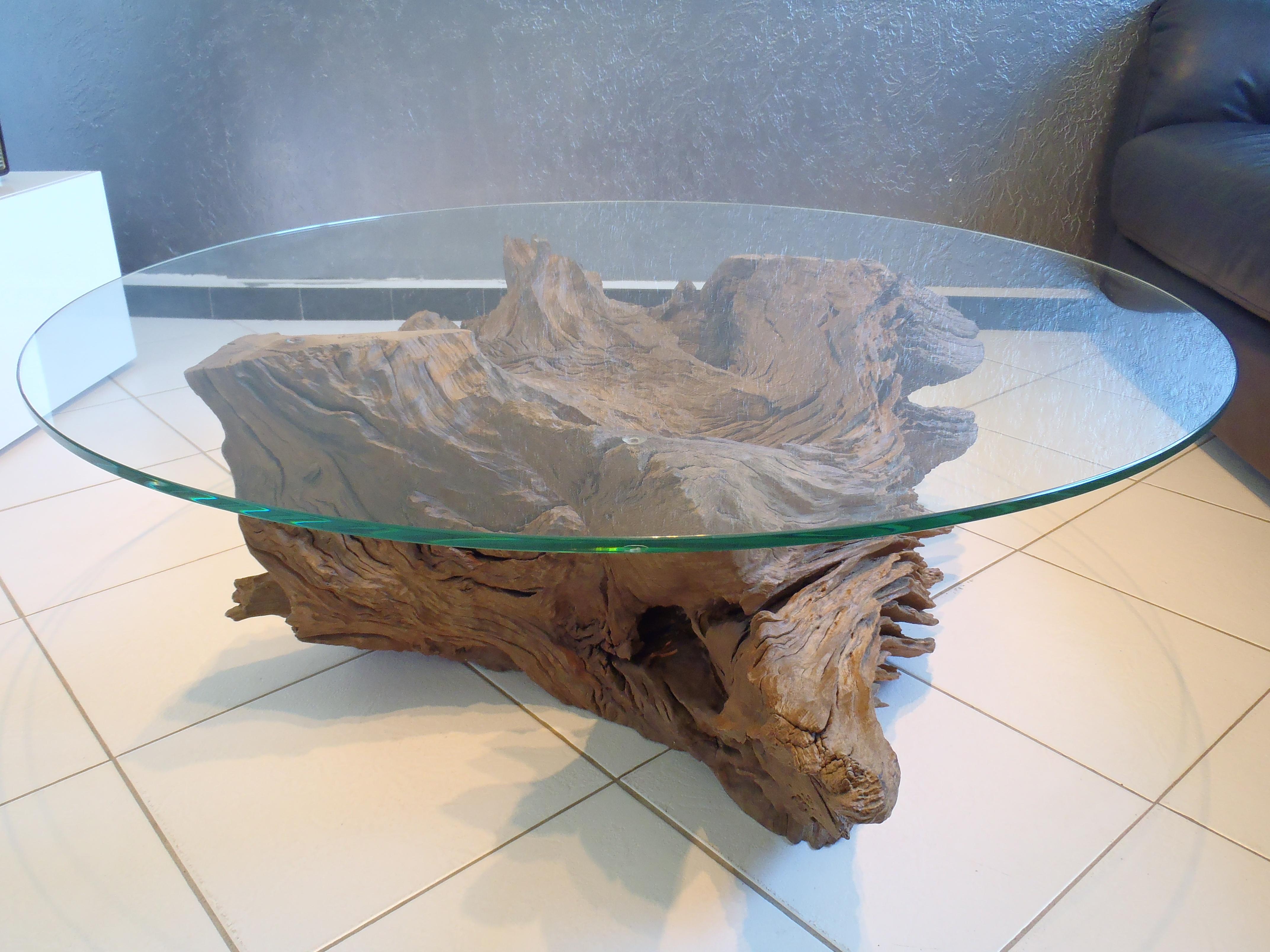 Table Basse Avec Souche D Arbre table basse illusion - boutique penone design